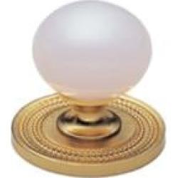 """Phylrich K93 Regent/Versailles 1 3/8"""" Pink Onyx Round Shaped Cabinet Knob"""