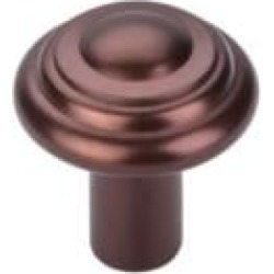 "Top Knobs M1473 Aspen 1 1/4"" Cast Bronze Mushroom Shaped Button Cabinet Knob in Mahogany Bronze"