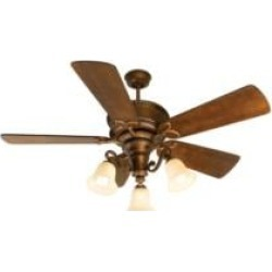 """Craftmade K10751 Riata 5 Blades 54"""" Indoor Ceiling Fan with CFL Light Kit in Distressed Walnut"""
