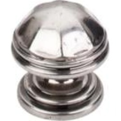 "Top Knobs M22 Britannia 1 1/4"" Brass Mushroom Shaped London Cabinet Knob in Pewter Antique"
