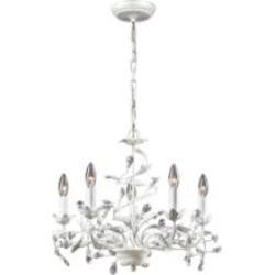 "Elk Lighting 18113-5 Circeo 5 Light 21"" Incandescent Chandelier Light in Antique White"