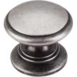 """Top Knobs M354 Somerset II 1 1/4"""" Brass Mushroom Shaped Ray Cabinet Knob in Pewter Antique"""