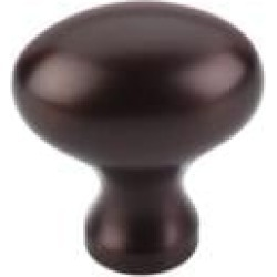 "Top Knobs M750 1 1/4"" Brass Oval Shaped Cabinet Knob in Oil Rubbed Bronze"