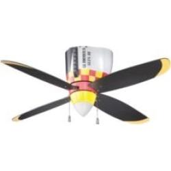 """Craftmade WB448GG4 WarPlanes 4 Blades 48"""" Flush Mount Glamorous Glen Indoor Ceiling Fan"""