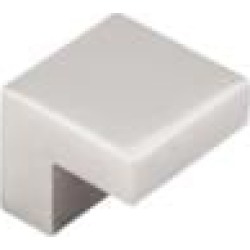 """Top Knobs M1320 Asbury 1"""" Zinc Alloy Square Shaped Cabinet Knob in Polished Nickel"""