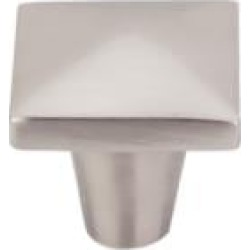 "Top Knobs M2059 Aspen II 1 1/4"" Cast Bronze Square Shaped Square Cabinet Knob in Brushed Satin Nickel"