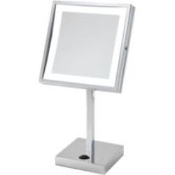 """Electric Mirror EM88-SIL Elixir 8"""" Countertop Framed Make-Up Mirror with LED Light"""