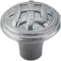 "Top Knobs M167 Tuscany 1"" Zinc Mushroom Shaped Celtic Small Cabinet Knob in Pewter Light"