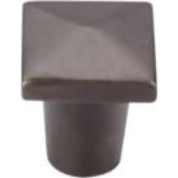 "Top Knobs M1507 Aspen 3/4"" Cast Bronze Square Shaped Cabinet Knob in Medium Bronze"