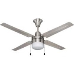 """Craftmade UB48BC4C1 Urbana 4 Blades 48"""" Indoor Ceiling Fan with Light Kit in Brushed Chrome"""
