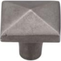 "Top Knobs M1520 Aspen 1 1/2"" Cast Bronze Square Shaped Cabinet Knob in Silicon Bronze Light"