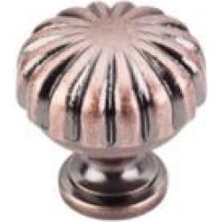 "Top Knobs M323 Somerset II 1 1/4"" Brass Mushroom Shaped Melon Cabinet Knob in Antique Copper"