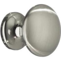 "Smedbo BN431 1"" Zinc Mushroom Cabinet Knob in Brushed Nickel"