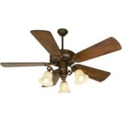 """Craftmade K10674 CXL 5 Blades 54"""" Indoor Ceiling Fan with CFL Light Kit in Distressed Walnut"""