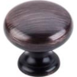 """Top Knobs M1614 Normandy 1 1/4"""" Brass Mushroom Shaped Cabinet Knob in Tuscan Bronze"""