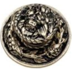 """Phylrich 1029318 Baroque 1 1/4"""" Round Shaped Cabinet Knob"""