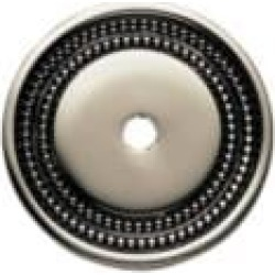 """Phylrich 1029350P Beaded 1 3/4"""" One Hole Round Cabinet Knob Backplate"""