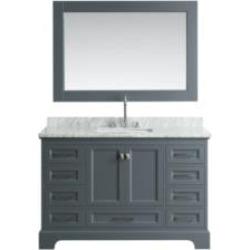 "Design Element DEC068D-G Omega 54"" Freestanding Single Sink Bathroom Vanity Set in Country Gray"