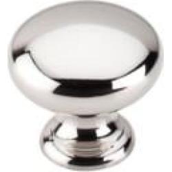 "Top Knobs M1312 Asbury 1 1/4"" Brass Mushroom Shaped Cabinet Knob in Polished Nickel"