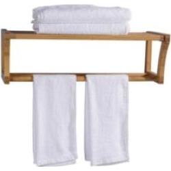 "Barclay TRK502 25 1/4"" Bamboo Wall Mount Towel Rack"