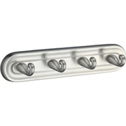 Smedbo V259N Villa Hook Quadruple in Brushed Nickel found on Bargain Bro Philippines from Decor Planet for $88.50