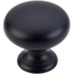 """Top Knobs M285 Somerset II 1 1/4"""" Brass Mushroom Shaped Cabinet Knob in Flat Black"""