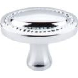 """Top Knobs M1624 Somerset II 1 1/4"""" Brass Oval Shaped Oval Rope Cabinet Knob in Polished Chrome"""