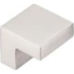 "Top Knobs M1164 Asbury 1"" Zinc Alloy Square Shaped Cabinet Knob in Brushed Satin Nickel"
