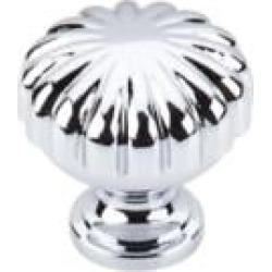"Top Knobs M1615 Somerset II 1 1/4"" Brass Mushroom Shaped Melon Cabinet Knob in Polished Chrome"