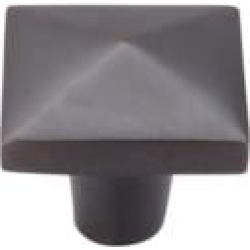 "Top Knobs M1522 Aspen 1 1/2"" Cast Bronze Square Shaped Cabinet Knob in Medium Bronze"