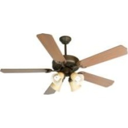 """Craftmade K10633 Pro Builder 204 5 Blades 52"""" Indoor Ceiling Fan with Fluorescent Light Kit in Washed Walnut Birch"""