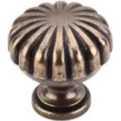 "Top Knobs M321 Somerset II 1 1/4"" Brass Mushroom Shaped Melon Cabinet Knob in German Bronze"