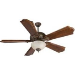 """Craftmade K10323 Mia 5 Blades 56"""" Indoor Ceiling Fan with Fluorescent Light Kit in Classic Ebony"""
