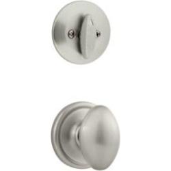 """Kwikset 604L Signature Laurel 2 5/8"""" Single Cylinder Interior Pack Knob Entry Set"""