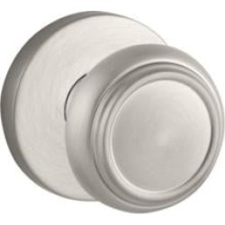 "Baldwin ENTRACRR150 Reserve 2 1/4"" Keyed Entry Door Knob with Contemporary Round Rosette in Satin Nickel"