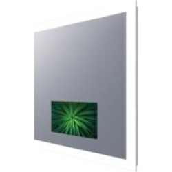 """Electric Mirror SIL-156-AV Silhouette 36"""" - 66"""" Wall Mount Rectangular Lighted Mirror with 15"""" LED TV"""