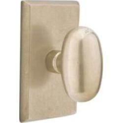"""Emtek 7054 4 1/2"""" Pair of Dummy Door Knob with Sandcast Bronze Rectangular Rosette"""