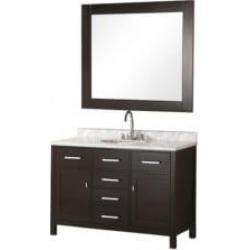 """Design Element DEC076C London Stanmark 48"""" Freestanding Single Sink Bathroom Vanity Set in Espresso"""