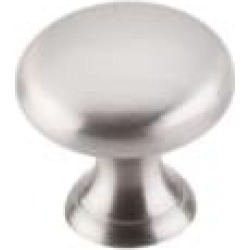 "Top Knobs M1310 Asbury 1"" Brass Mushroom Shaped Cabinet Knob in Brushed Satin Nickel"