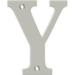 "Deltana RL4Y 3 1/2"" Solid Brass Residential Letter ""Y"""