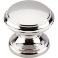 "Top Knobs M1304 Asbury 1 3/8"" Zinc Alloy Mushroom Shaped Flat Top Cabinet Knob in Polished Nickel"