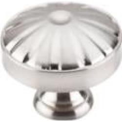 "Top Knobs M1609 Dakota 1 1/4"" Zinc Alloy Mushroom Shaped Hudson Cabinet Knob in Brushed Satin Nickel"