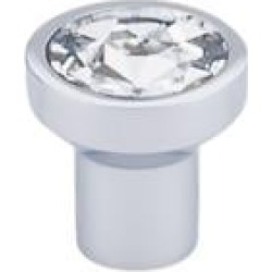 "Top Knobs TK736 Barrington 1 1/8"" Zinc Alloy Round Shaped Wentworth Crystal Cabinet Knob"