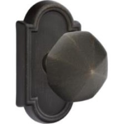 "Emtek 70511 4 1/2"" Pair of Dummy Door Knob with Lost Wax Cast Bronze Arched Rosette"
