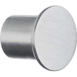 "Smedbo B497 1"" Zinc Round Cabinet Knob in Stainless Steel"