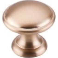 "Top Knobs M1580 Dakota 1 1/4"" Zinc Alloy Mushroom Shaped Rounded Cabinet Knob in Brushed Bronze"