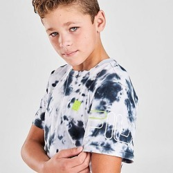 Fila Boys' Aiden Tie-Dye T-Shirt in Blue Size Medium 100% Cotton/Knit found on Bargain Bro India from Finish Line for $15.00