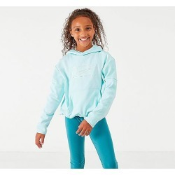 Nike Girls' Therma Shine Pullover Training Hoodie in Blue Size X-Large 100% Polyester/Fleece