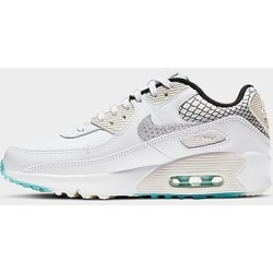 Nike Big Kids' Air Max 90 SE 2 Casual Shoes in White/White Size 5.0 Leather found on Bargain Bro Philippines from Finish Line for $110.00