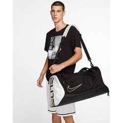 Nike Elite Hoops Basketball Duffel Bag in Black/Black found on Bargain Bro from Finish Line for USD $45.60